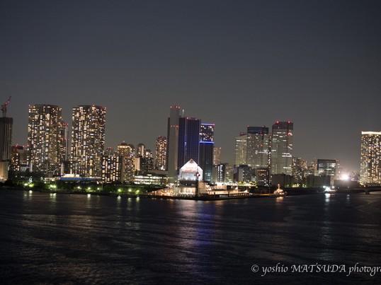 夜景撮影セミナー・レインボーブリッジからの東京夜景とループ橋撮影の画像