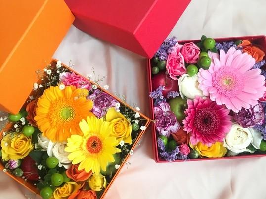 誕生日や結婚式のプレゼントに♡Boxフラワーの画像