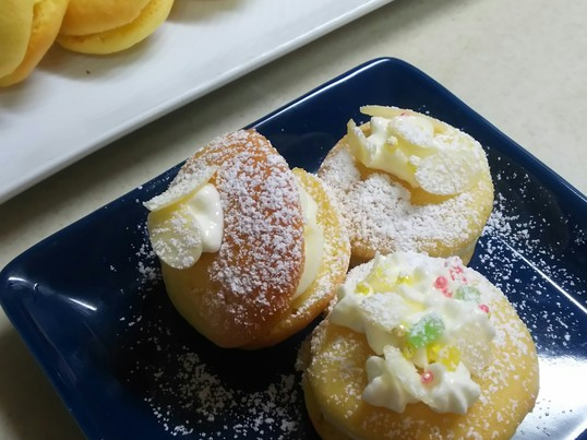 夏休み親子お菓子教室 ウーピーパイ&ナンドッグの画像
