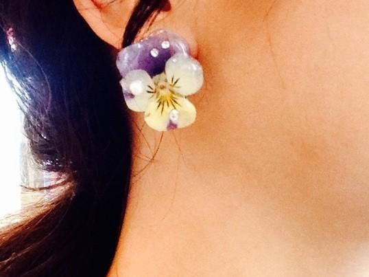 本物のお花を使って⭐️オリジナルアクセサリー手作りレッスンの画像