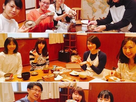 初めてでも作れる和菓子(玉菊)練り切りワークショップ お抹茶付きの画像