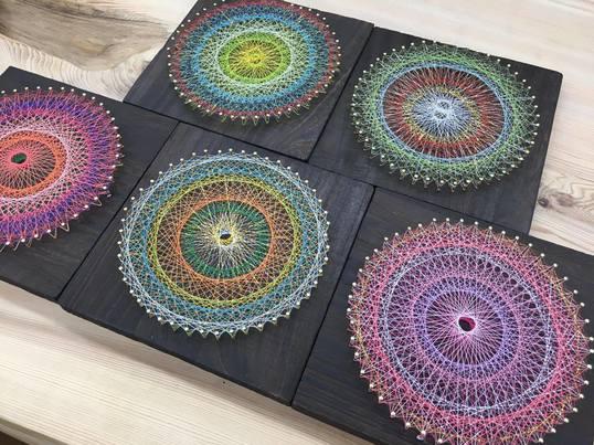 心の内側を覗いてみよう!「糸かけ曼荼羅アート」ワークショップの画像