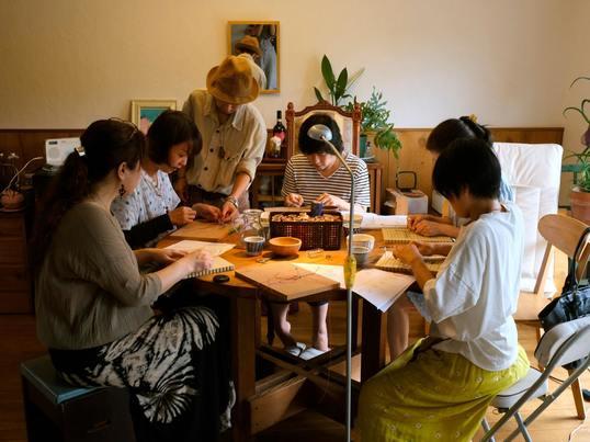 編み物マクラメ編み・ひし形ストラップコースin 国分寺の画像