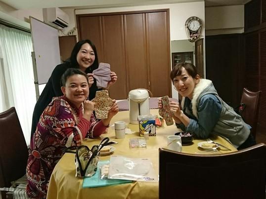 布ナプキンが作れるちくちくお茶会の画像