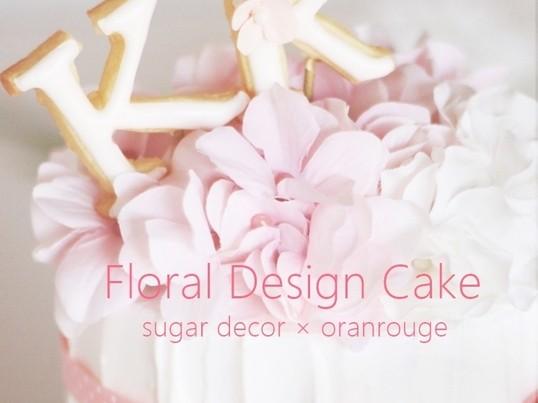 ウエルカムスペースやギフトに大人気☆フローラルデザインケーキの画像