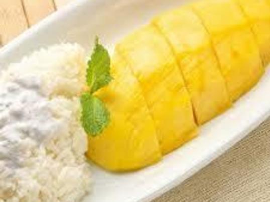 マンゴーの季節!!  マンゴー餅米のデザートを作ろう!!の画像