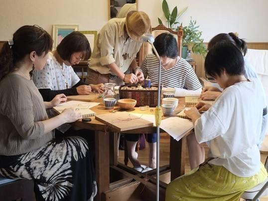 店舗移転のため終了/マクラメ編み・天然石を包む指輪講座の画像