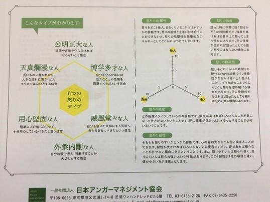アンガーマネジメント診断講座!!の画像