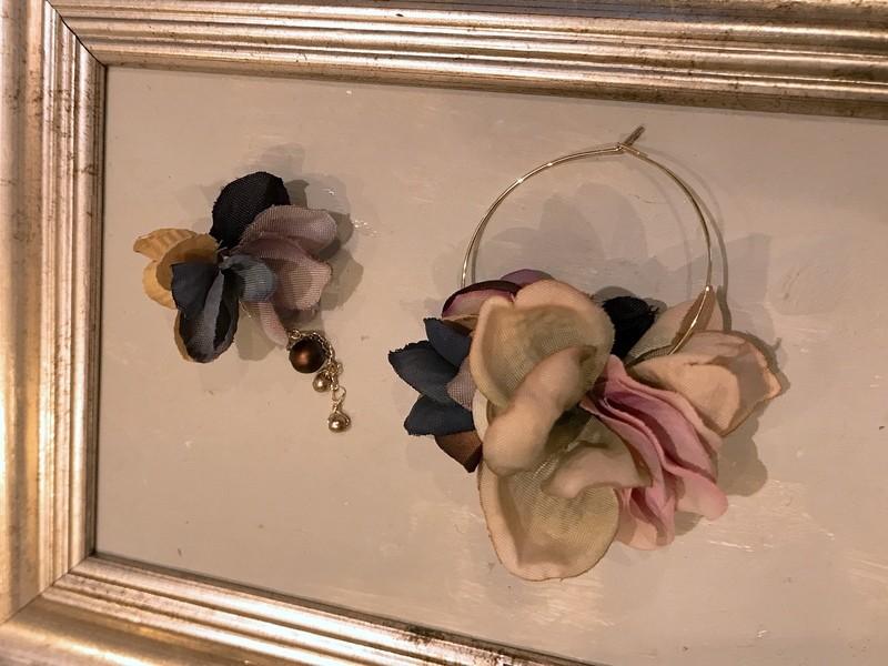 《布花》シルクフラワーを使った季節のアクセサリー♪の画像