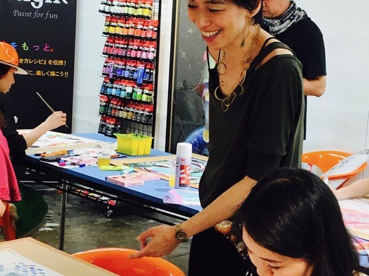 新感覚アートレッスン!キーダ先生と作る手作りトートバッグ!の画像