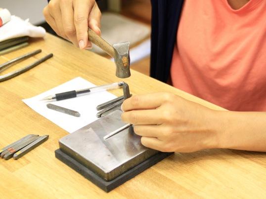 【彫金】パール付きシルバーリングを作ろう♪の画像