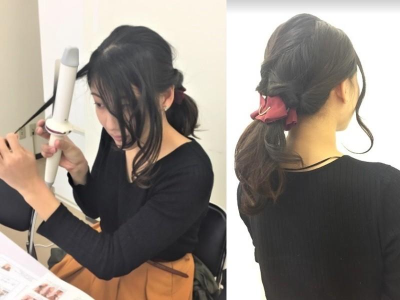 【マンツーマン】はじめてのヘアアイロン!巻き髪講座の画像