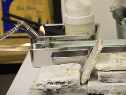 【彫金】シルバー(純銀)のグラスホルダーを作ろう♪の画像