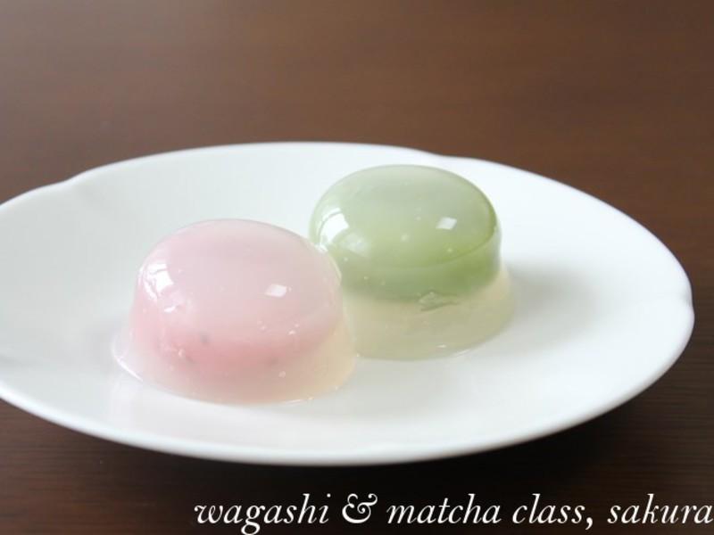 夏の和菓子「水まんじゅう」と「あさがお(こなし製)」を作ろう♪の画像
