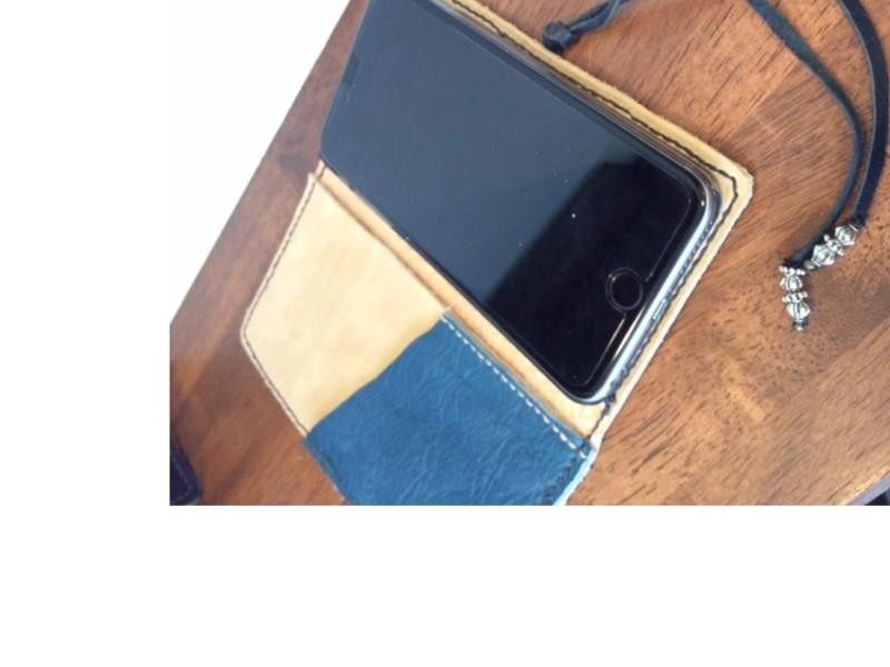 【レザークラフト】オリジナルiPhoneケースの画像
