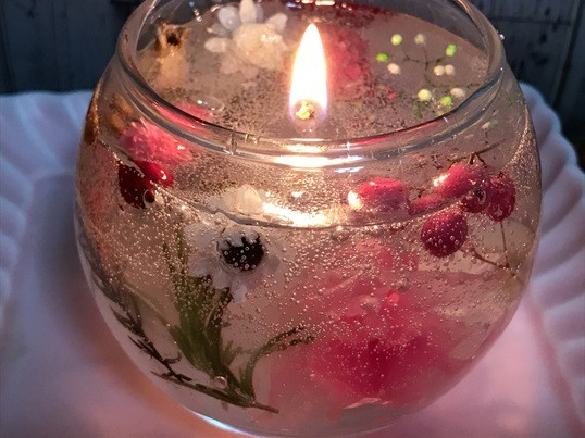 癒しのアロマボタニカルジェルキャンドルづくりの画像