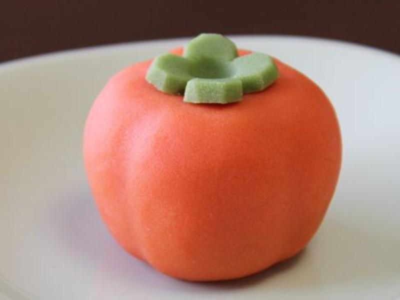 【和菓子作り】秋です!かわいい練り切り「柿の実」「いが栗」を作ろうの画像