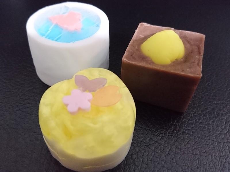 京都らしい可愛い和菓子石鹸を作ろうの画像