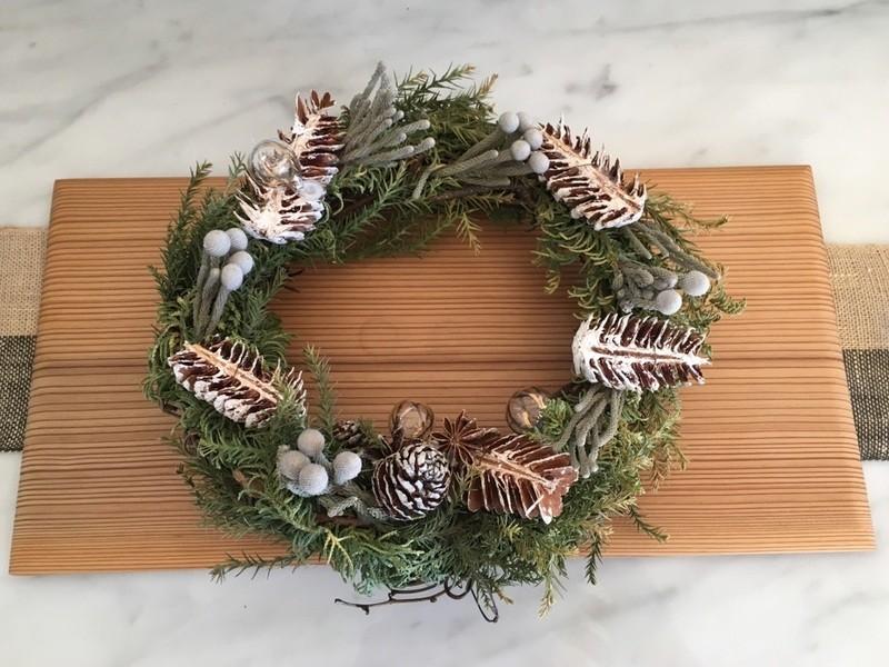 初心者大歓迎!手作りリースで、クリスマス飾りを演出!の画像