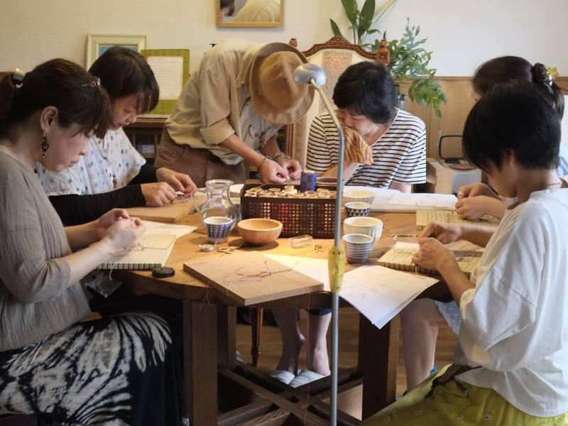 天然石を包むマクラメ編み講座・in国分寺の画像