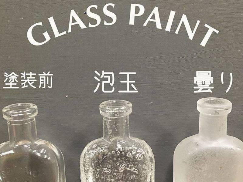 アンティークペイント講座~ガラスペイントとウッドワックスを塗ろうの画像