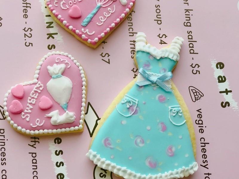 ストロベリーパンケーキ作りでおうちカフェ♪アイシングクッキーの画像