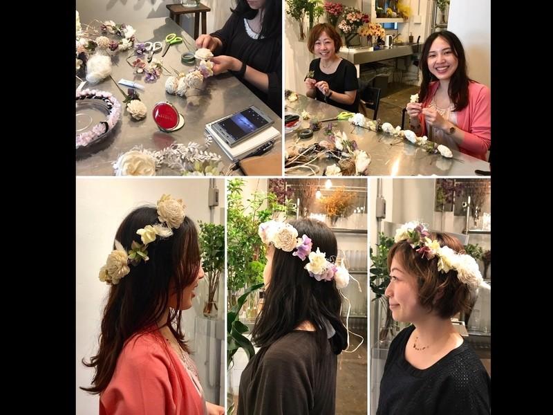 オトナ女子のための花かんむり製作講座*の画像