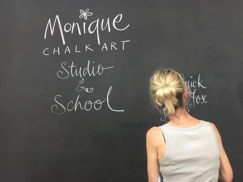 本場オーストラリアの黒板アートレタリングレッスン♪の画像