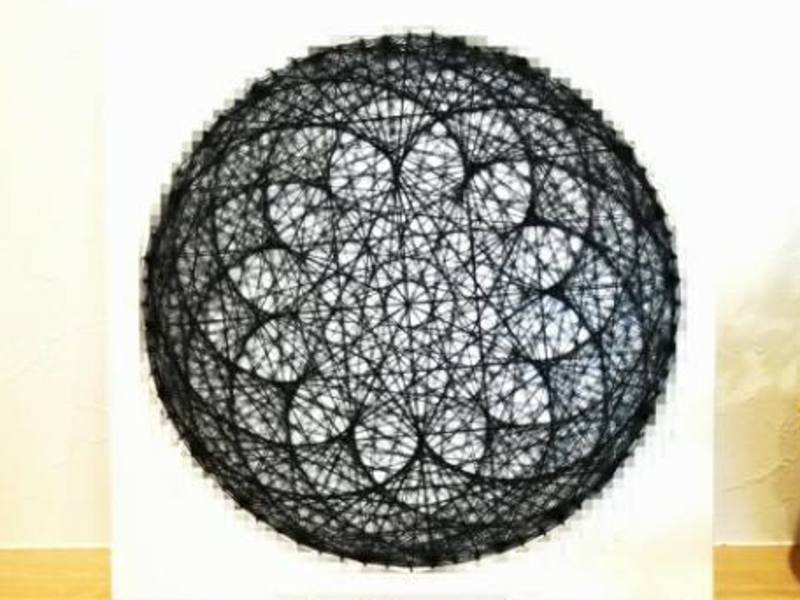 【幾何学アート】ロータスフラワー曼荼羅作りの画像