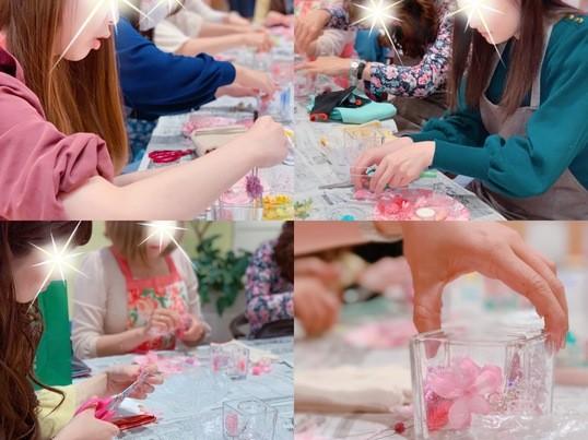 【博多マルイ開催】ジェルキャンドルの春限定講座『桜キャンドル』の画像