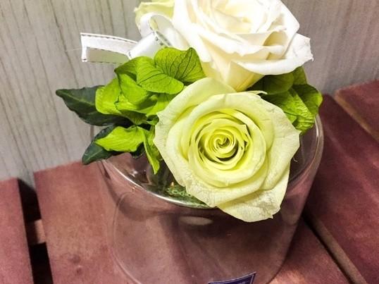 【tea付】グラスのフラワーアレンジメント〜大塚駅徒歩3分の画像