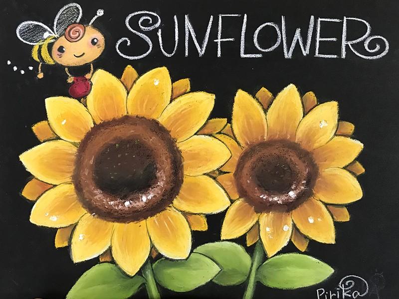 ピリカの夏休みチョークアート体験教室の画像