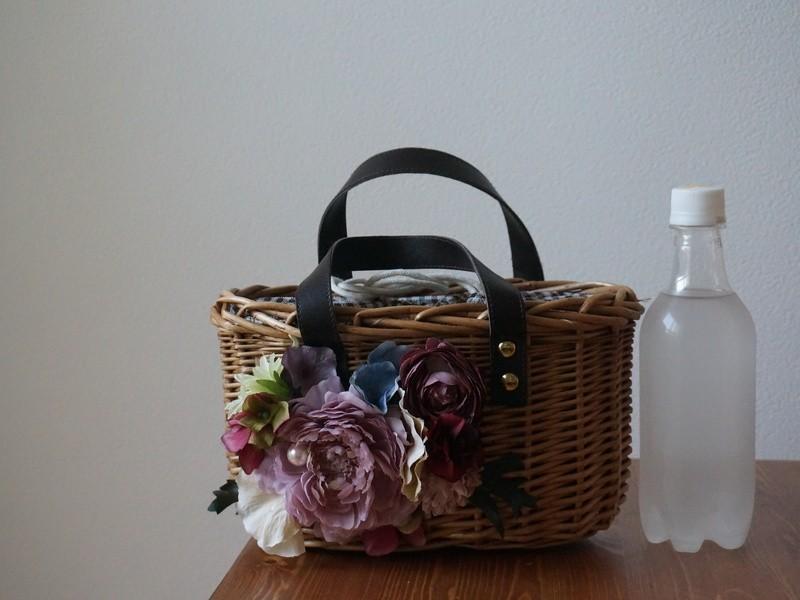 【初心者歓迎】お花の籠バックの画像