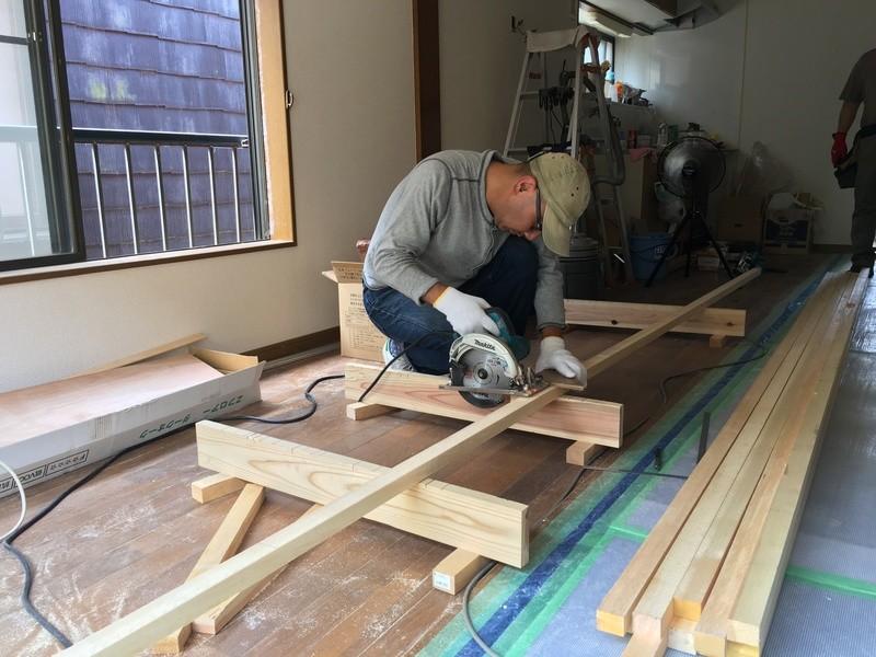 リノベーション工事を学ぼう!床組み前半 ~和室を洋室に~の画像