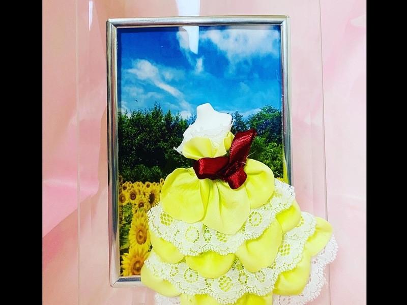 匂い香る最新のお花パヒュームフラワーのフレームドール製作講座の画像