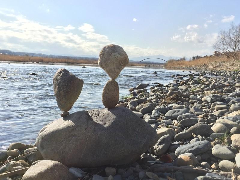 はじめての石花アート&多摩川石拾い♪の画像