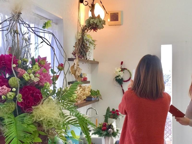 お正月飾り作り1日教室/アーティフィシャルフラワーアレンジの画像