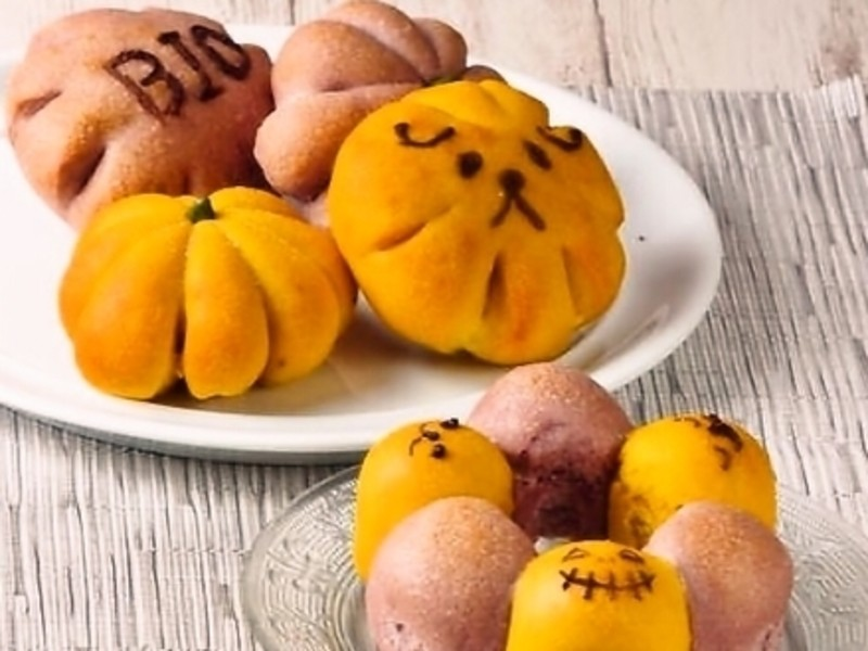 4歳~親子クッキング!楽しいハロウィンかぼちゃパフェ&2色パンの画像