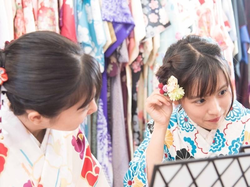 北鎌倉きもの着付け教室 レンタル着物で北鎌倉をお出かけの画像