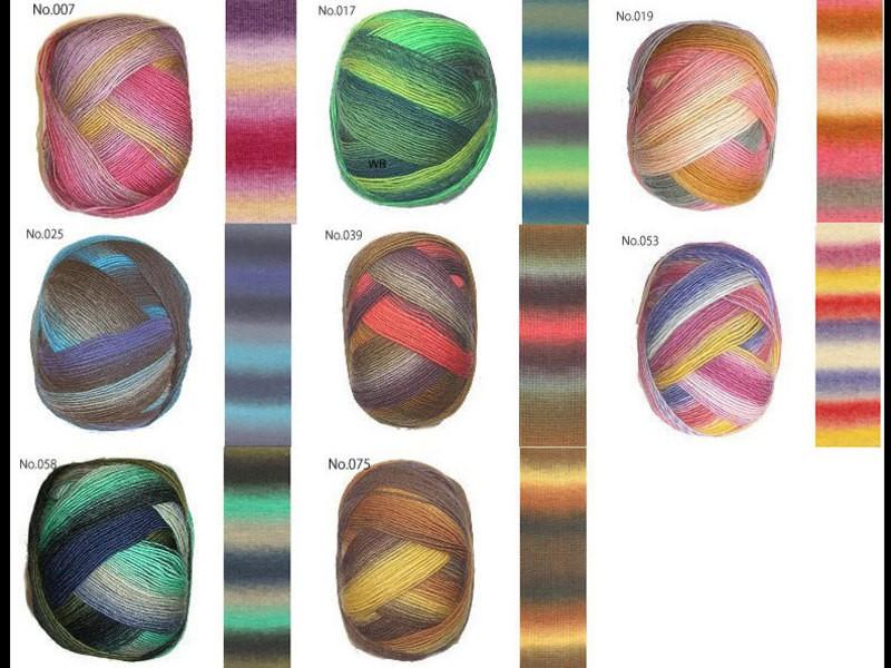 【棒針編み】カラフル毛糸で軽くてフンワリ〜あわあわ模様のショール♪の画像