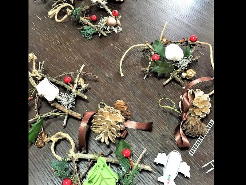 ☆プリザーブド&ナチュラル素材DEクリスマスオーナメントを作ろう☆の画像