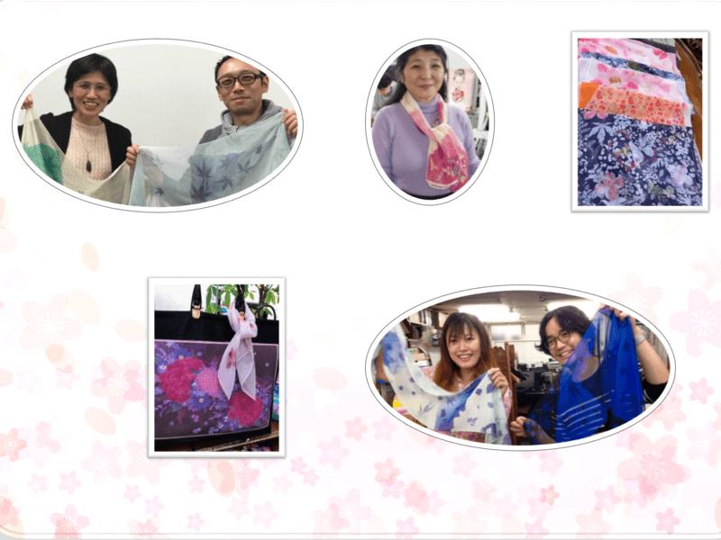 染め物スカーフ火も水も使わない新しい染色技法で綺麗な色の染め物体験の画像