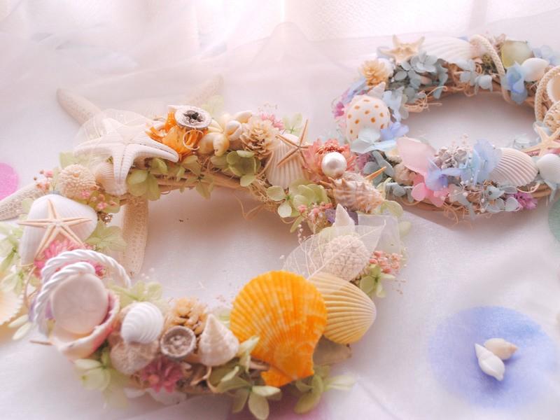 今年一日だけ開催★親子で参加!貝殻で作るマリンリース◎の画像