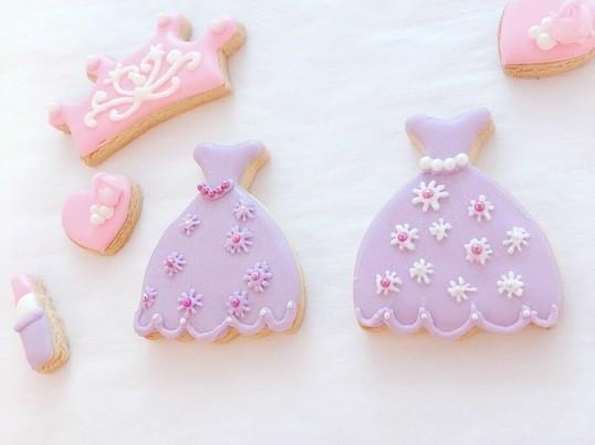 女の子が大好きなプリンセスのアイシングクッキーの画像