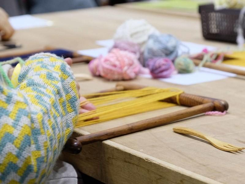 北欧好きさんのためのフワフワ糸で紡ぐタペストリーを織りませんか?の画像