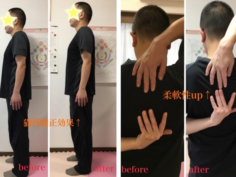 柔軟性・可動域アップ!1回で背中握手が出来るようになる肩甲骨はがしの画像