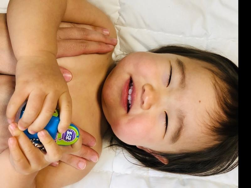 お試し1回コース 赤ちゃんの前面のマッサージをしてあげようの画像