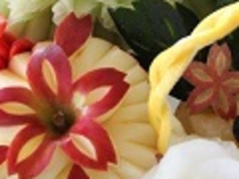 旬のフルーツを使って飾り切り!!の画像