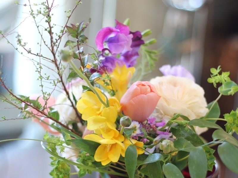 週末、花を楽しむ自分時間の画像