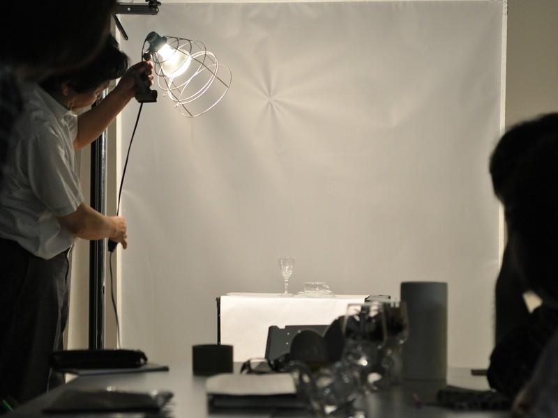 商品撮影コース1-4透明なガラスや液体の質感表現 照明・撮影講習会の画像